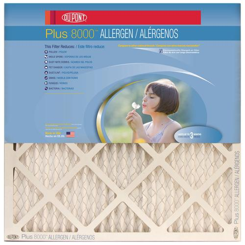 dupont® plus pleated replacement air filter merv 10 at menards®
