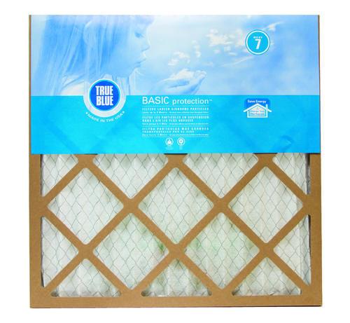 true blue® basic pleated replacement air filter merv 7 at menards®