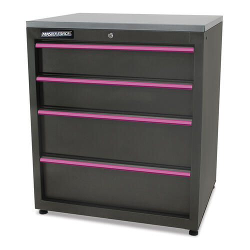 Masterforce® 4-Drawer Base Storage Cabinet Drawer Pulls ...