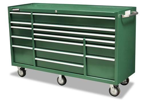 """masterforce® 72"""" 15-drawer mobile tool cart at menards®"""