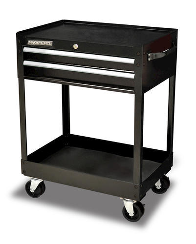 "masterforce® 26"" black 2-drawer mobile tool cart at menards®"