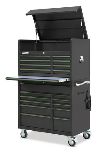 Masterforce 41 X 24 Gunmetal 19 Drawer Mobile Tool Chest Cabinet