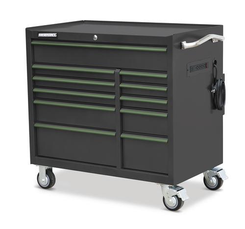 """masterforce® 41"""" x 24"""" 11-drawer tool cabinet at menards®"""