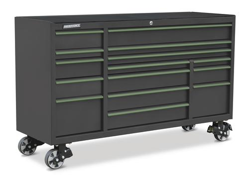 "masterforce® 72"" x 24"" 15-drawer mobile tool cabinet at menards®"