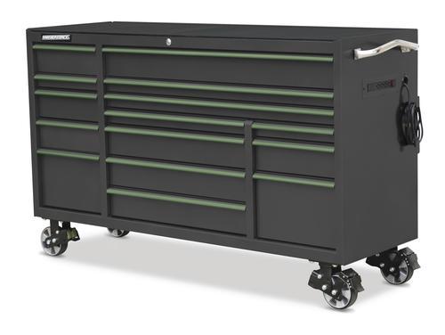 """masterforce® 72"""" x 24"""" 15-drawer mobile tool cabinet at menards®"""