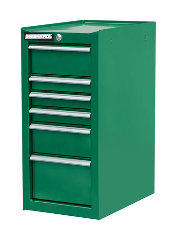 Masterforce 16 X 24 Green 6 Drawer Side Cabinet