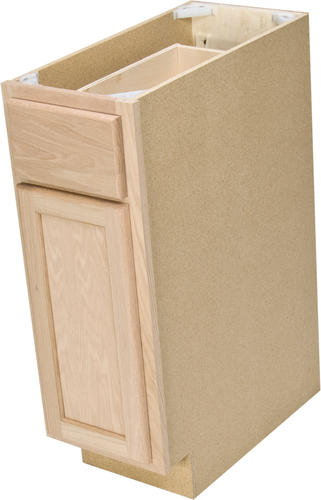 Quality One 12 X 34 1 2 Unfinished Oak Base Cabinet With Drawer At Menards