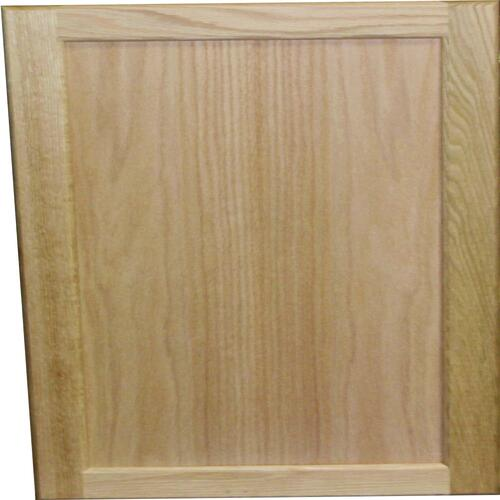 quality one™ unfinished oak square recessed panel cabinet