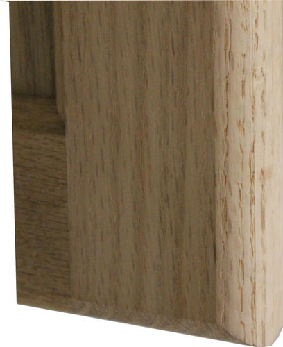 Quality One Unfinished Oak Square Recessed Panel Cabinet