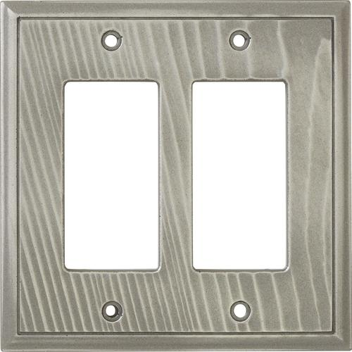 decorative light switches.htm weybridge    cast metal woodgrain double decor brushed nickel wall  weybridge    cast metal woodgrain double