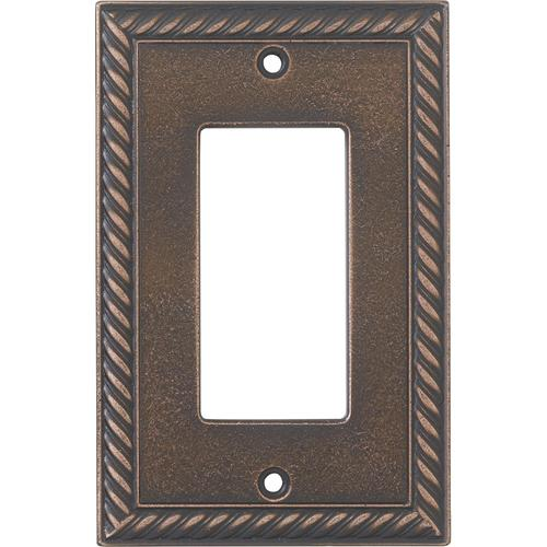decorative light switches.htm weybridge    cast metal rope decor oil rubbed bronze wall plate at  cast metal rope decor oil rubbed bronze