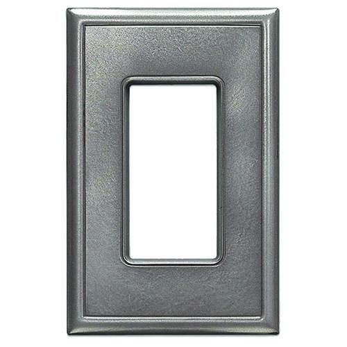decorative light switches.htm weybridge    cast metal brushed nickel single decor wall plate at  weybridge    cast metal brushed nickel