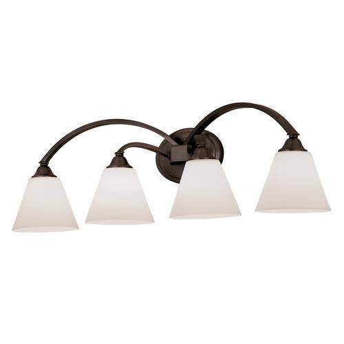 "Bathroom Lighting Fixtures Menards patriot lighting® plaza collection 32.5"" oil rubbed bronze 4-light"