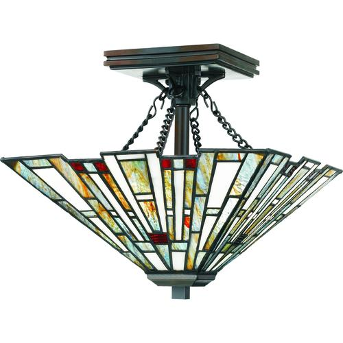 Patriot Lighting Elegant Home Trysta Bronze 2 Light Semi Flush Mount Ceiling Light At Menards