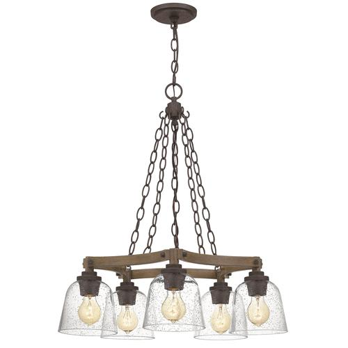 Patriot Lighting Elegant Home Astaria 5 Light Matte Black Faux Wood Chandelier At Menards