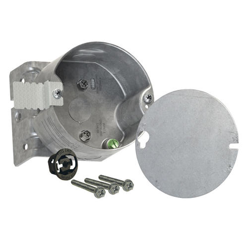 Raco 4 Steel Round Ceiling Fan Fixture Electrical Box And Bracket At Menards