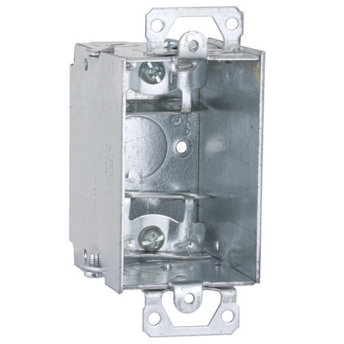 Raco 3 X 2 Steel Old Work Electrical Switch Box For Mc Armored Cable Flex Cable At Menards