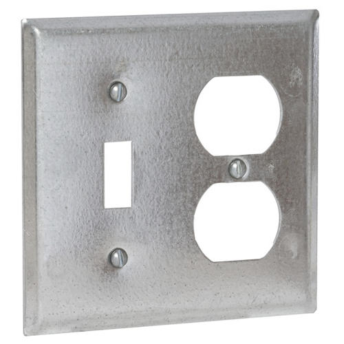 Raco 2 Gang Glavanized Steel 4 Square Electrical Handy Box Cover At Menards