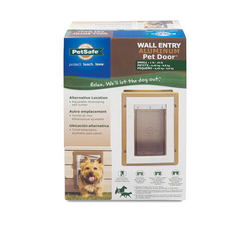 Petsafe Small Aluminum Wall Entry Pet Door 525 X 75 At Menards