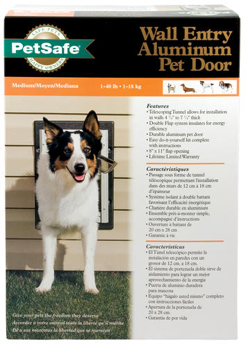 Petsafe 825 X 1125 Medium Aluminum Wall Entry Pet Door At Menards