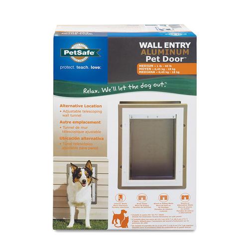 Petsafe 825 X 1125 Medium Aluminum Wall Entry Pet Door At Menards