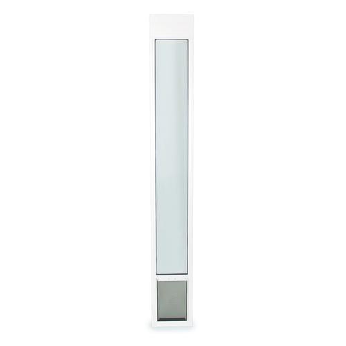 Petsafe 91 7 16 96 Adjustable Medium Deluxe White Patio Panel Pet Door At Menards