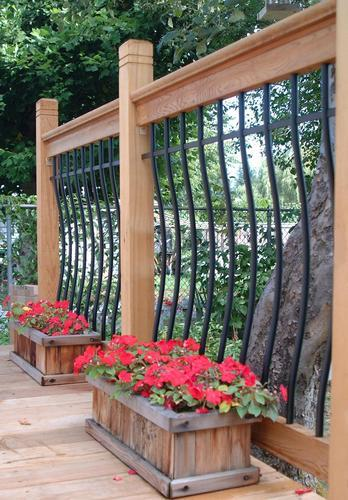 Vista Tuscany 6' Level Deck Railing Kit - Clear Western Red