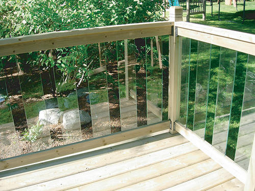 Bon Rail Simple Clearview 6u0027 Treated Top And Bottom Rails At Menards®
