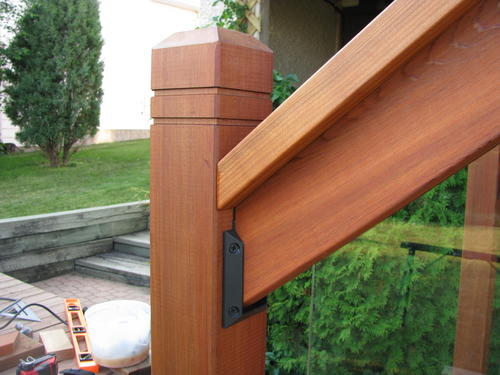 Rail Simple Clearview 6' Western Red Cedar Top and Bottom ... on