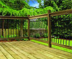 Vista Tuscany 6' Cedartone Pine Level Deck Railing Kit at ...