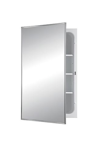 """Jensen 26"""" Tall Single Door Steel Recessed Medicine ..."""