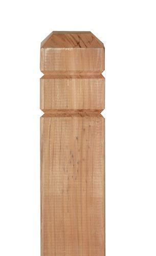 4 x 4 x 54 Western Red Cedar Chamfer Deck Post at Menards®