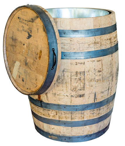 Real Wood Products 26 Jack Daniel S Whole Whiskey Barrel Planter At Menards