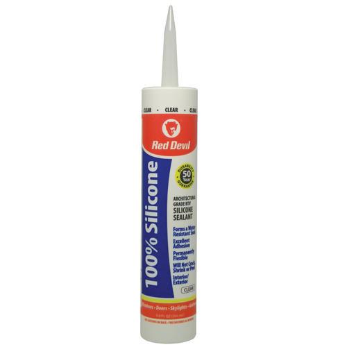 Red Devil Clear Architectural Grade Silicone Sealant Oz - Clear silicone caulk for shower