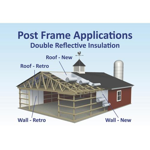 Double Bubble Insulation Reflective Radiant Barrier Roll with Staple Tab 100 ft