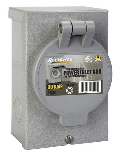 reliance 30 amp power inlet box at menards rh menards com