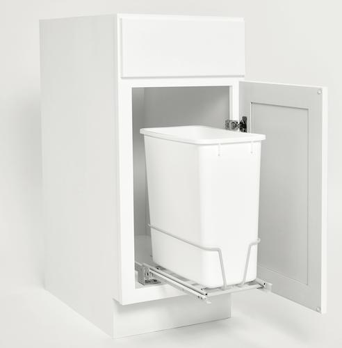 Rev A Shelf 174 Single 20 Qt Pullout White Waste Container