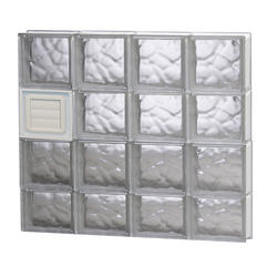 Simply Secure Wave Pattern Dryer Vented Glass Block Window At Menards