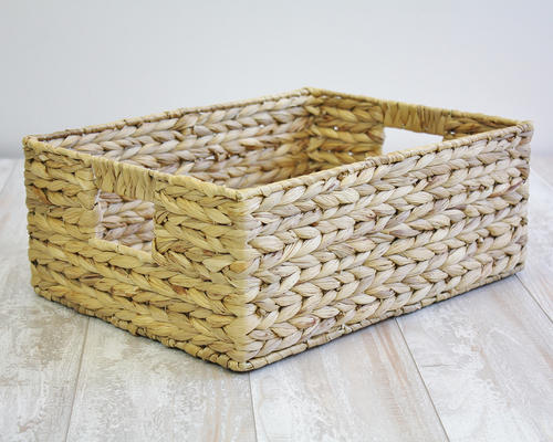 woven seagrass baskets with handles decorative storage boxes.htm rgi home havan weaved water hyacinth basket at menards    havan weaved water hyacinth basket