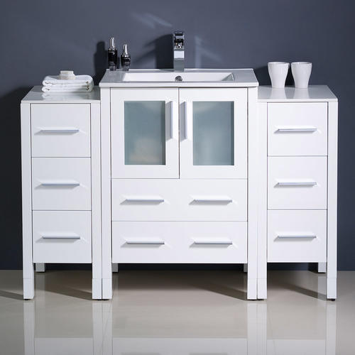 "Fresca 48""W x 18""D White Torino Vanity and Vanity Top with ..."