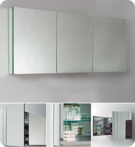 . Fresca 60  Wide Bathroom Medicine Cabinet w  Mirrors at Menards