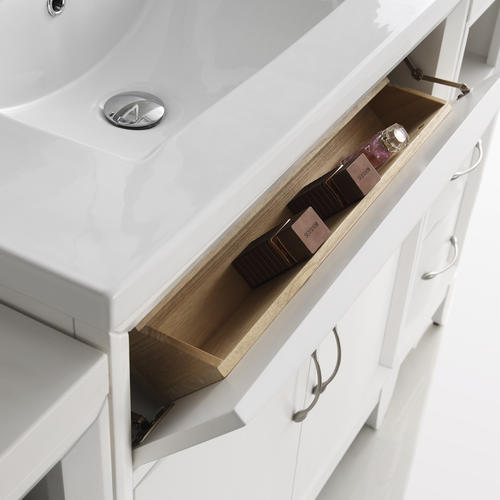 "Fresca Cambridge 36"" White Traditional Bathroom Vanity w ..."