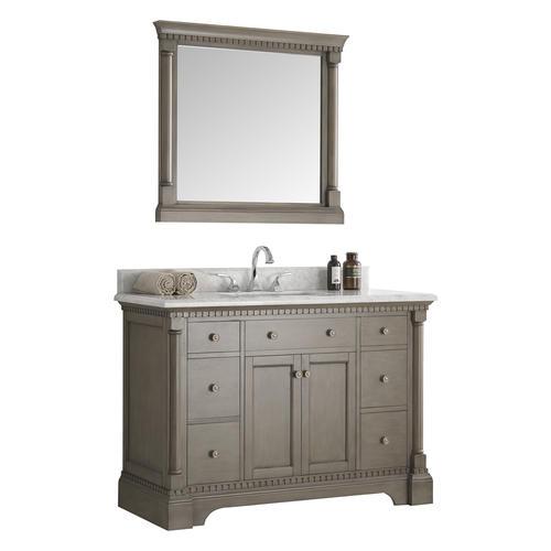 Fresca Kingston 48 Antique Silver Traditional Bathroom Vanity W Mirror