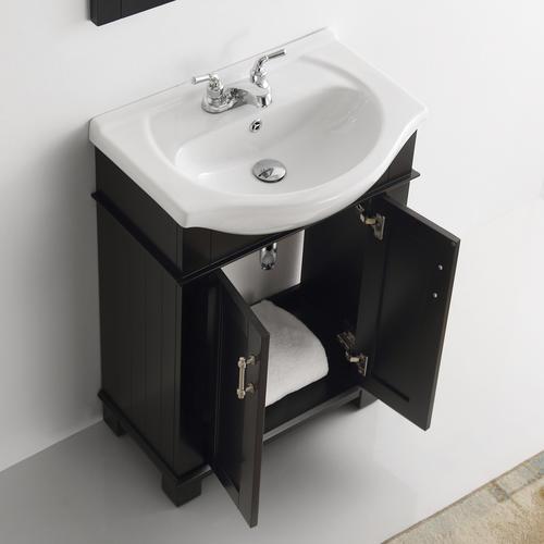 "Fresca Hartford 24"" Black Traditional Bathroom Vanity at ..."
