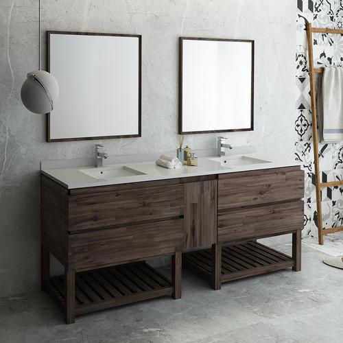 84 W X 20 D Gray Brown Formosa Vanity