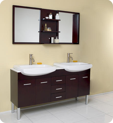 Fresca Vetta Espresso Modern Double Sink Bathroom Vanity w  Mirror at  Menards. Fresca Vetta Espresso Modern Double Sink Bathroom Vanity w  Mirror