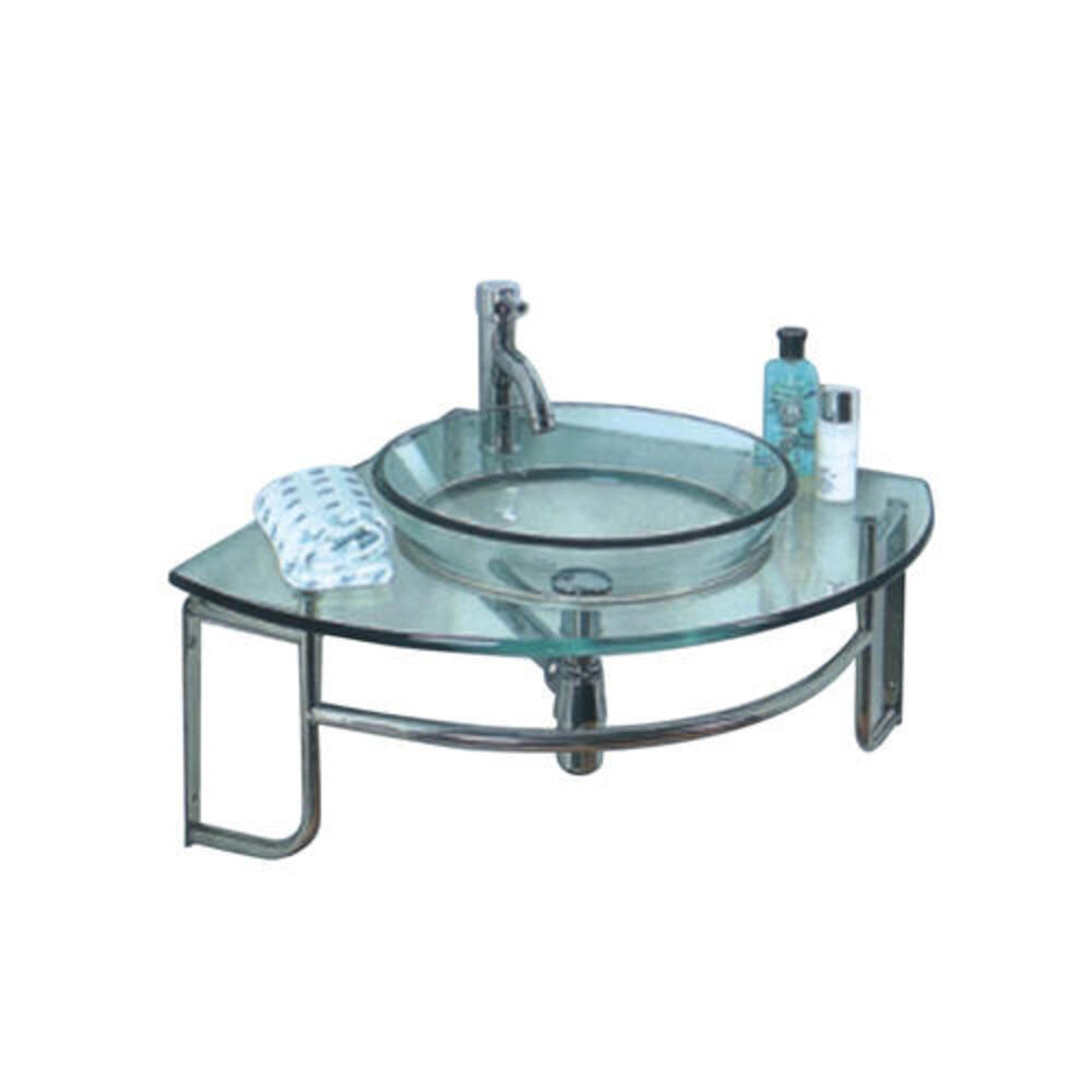 Fresca 24 W X 24 D Ordinato Corner Vanity And Glass Vanity Top With Integrated Sink At Menards