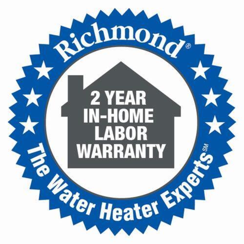 richmond essential 40 gallon 6 year natural gas water heater at menards