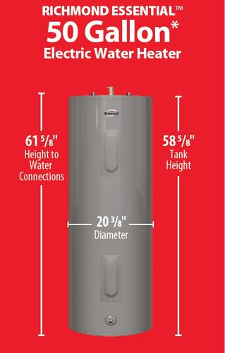 Richmond Essential 50 Gallon 6 Year Electric Tank Water Heater At Menards