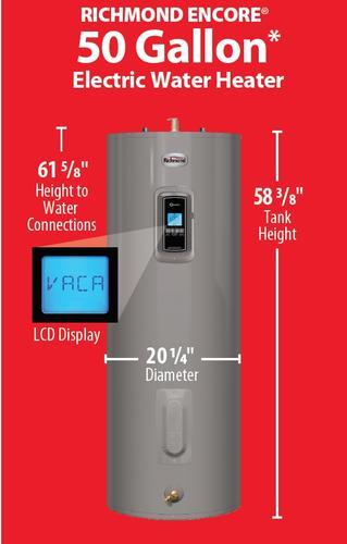 Richmond 174 Encore 174 50 Gallon 12 Year Electric Water Heater